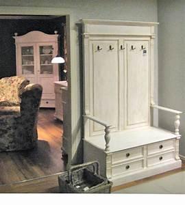 Garderobe Holz Weiß : landhaus garderobe klein sitzbank schubladen truhe massiv aus holz ~ Frokenaadalensverden.com Haus und Dekorationen