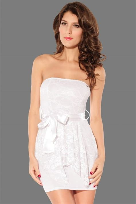 Women Sexy White Tight Boob Tube Dress Online Store For Women Sexy Dresses