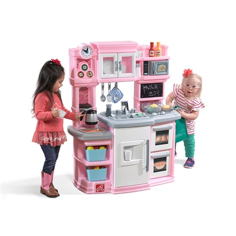 parts  great gourmet kitchen light pink kids play kitchen step