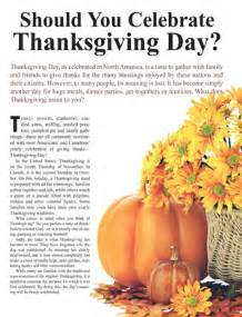 should you celebrate thanksgiving day