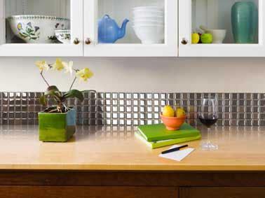 peindre du carrelage cuisine carrelage adhesif finition inox sur crédence cuisine