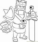 Barbarian Clash Clans Coloring King Pages Coloringpages101 sketch template