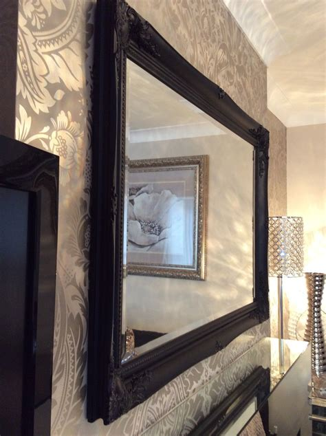black shabby chic mirror large black shabby chic framed ornate overmantle wall mirror range of sizes