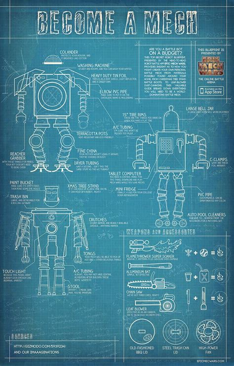 build blueprints build your own mech blueprints for diy