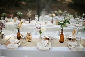 Deco De Table Champetre : jolie d coration de table mariage champetre deco mariage ~ Melissatoandfro.com Idées de Décoration