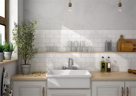 White Kitchen Tiles  Uk Designs