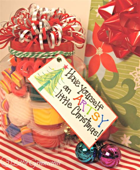 have an artsy little christmas dollar store gift in a jar