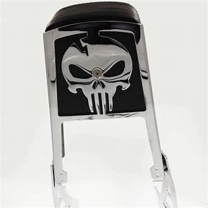 Aftermarket Motorcycle Parts Skull Back Rest Sissy Bar For