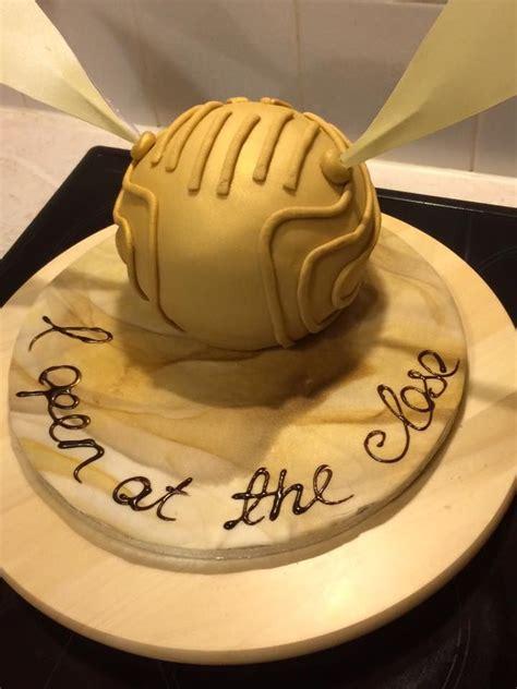 harry potters golden snitch cake chocolate sponge