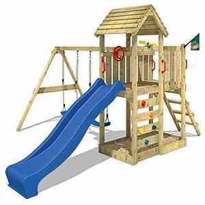 Kinder Spielturm Garten : wickey spielturm multiflyer kletterturm mit holzdach spielplatz garten mit schaukel rutsche und ~ Whattoseeinmadrid.com Haus und Dekorationen