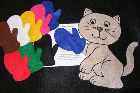 felt flannel board story kitten s mittens circle 644 | s l1000