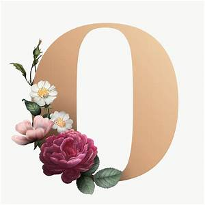 Templates For Website In Php Free Download Floral Letter O Font Free Stock Illustration 583196
