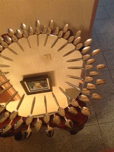 diy decoracion de espejos  cucharas  decoracion