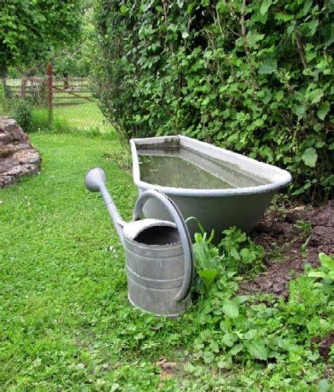 Wasserstelle Im Garten by Garten Anders Dekoration Mit Funktion Zinkbadewanne