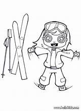 Ski Skis Coloring Pages Drawing Winter Slope Skiing Sport Template Rossignol Hellokids Atomic Jit Dk Drive Sketch sketch template