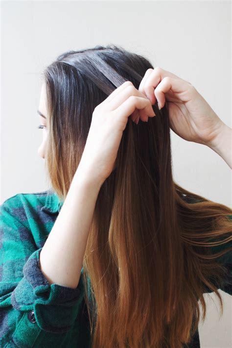 easy diy dutch braid into a fishtail hairstyle styleoholic