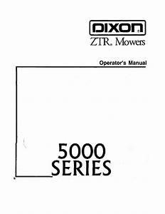 Dixon Ztr 5022 User Manual