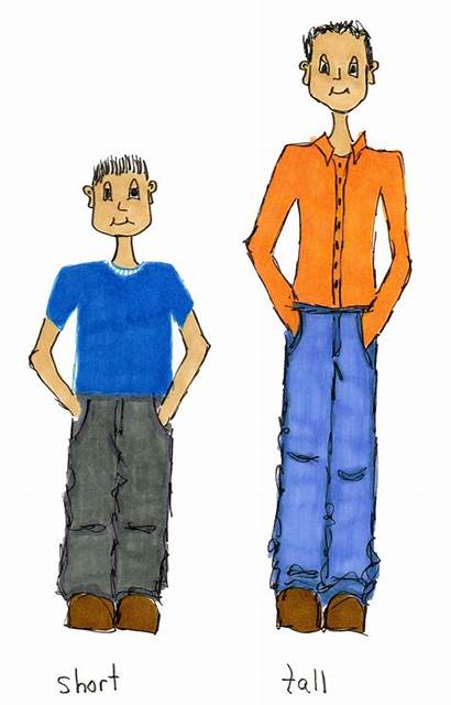 Tall Short Clipart Taller Person Boy Clip
