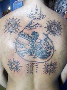 Khmer Hanuman Designs Thai Hanuman Sak Yant Picture Tattoos Thai