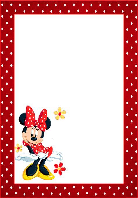 marcos invitaciones tarjetas o etiquetas de minnie mouse para imprimir gratis ideas y