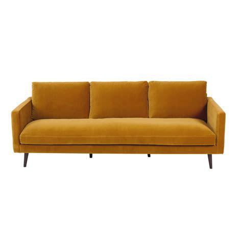 inspiration chambre ado canapé 4 places en velours jaune moutarde kant maisons