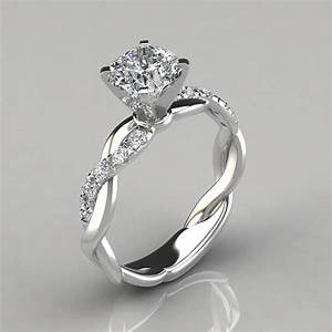 twist cushion cut engagement ring puregemsjewels With 2 in 1 engagement and wedding rings