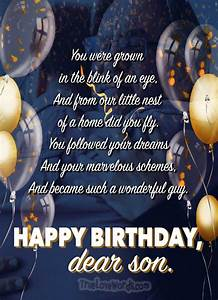 50 Cute Birthday Wishes For Son True Love Words Wishes