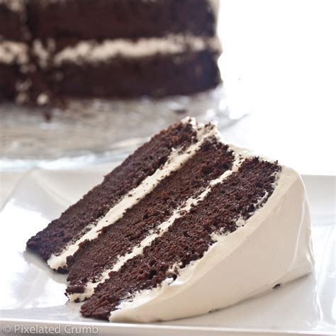 layer chocolate cake  marshmallow frosting