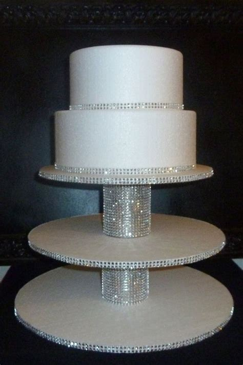 cupcake stand white wedding faux rhinestone foil candy