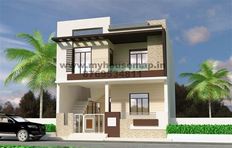 Front Elevation Design Modern Duplex