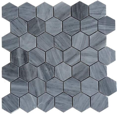 grey hexagon floor tile bardiglio gray honed 2 quot hexagon marble mosaic floor and wall tile