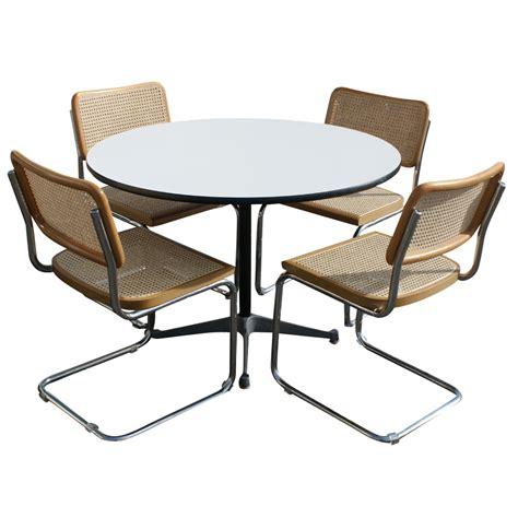 4 marcel breuer cesca style chairs tubular ebay