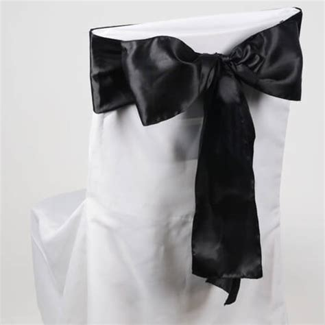 chair sashes black pack of 10