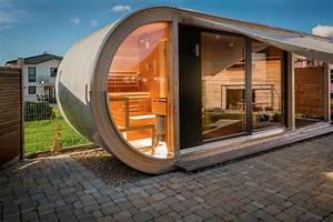 wellness gartenhaus gartensauna saunahaus in eschweiler With französischer balkon mit holzhäuser für den garten