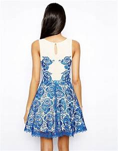 Forever Unique Lace Prom Dress in Blue (Cobaltblue) | Lyst