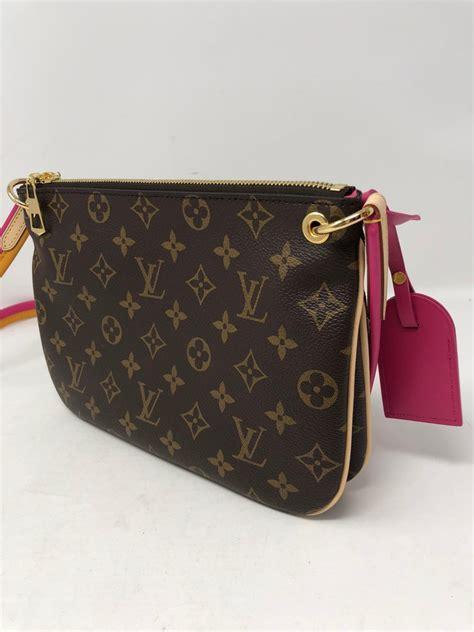 louis vuitton pink strap leather crossbody bag  stdibs