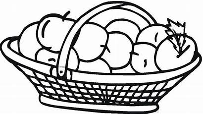 Apple Coloring Pages Printable Busket