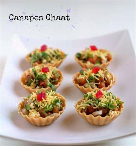 canapes chaat recipe indian canapes recipe werecipes