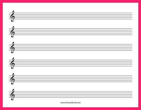 Treble Staff Paper Template by Free Printable Staff Paper Bio Letter Format