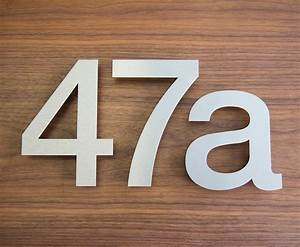 large modern stainless steel house numbers by goodwin With large house letters
