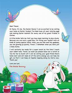 easter bunny letter example personalized letters from With letter to easter bunny template