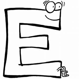Kostenlose Malvorlage Buchstaben Lernen Buchstabe E Zum