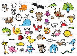 Crianças · desenhos · animais · bonitinho · desenho ...