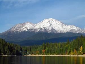 Mount Shasta Over Lake Siskiyou Photograph by Jeff Leland