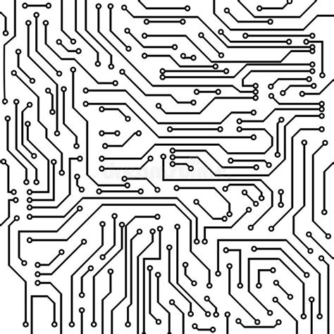 Circuit Board Vector Background Stock