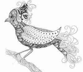 Zentangle Coloring Pages Animals
