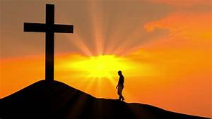 Silhouette, Of, Religious, Christian, Man, Stock, Footage, Video