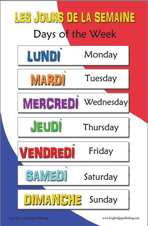 French Days Of The Week When To Use Le • Love Learning