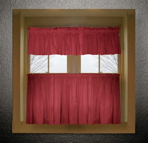 Kitchen Valance Curtains by Color Tier Kitchen Curtain Two Panel Set