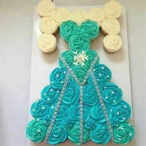 Elsa Dress Cupcake Cake